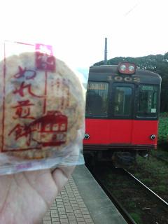 銚子電気鉄道とぬれ煎餅